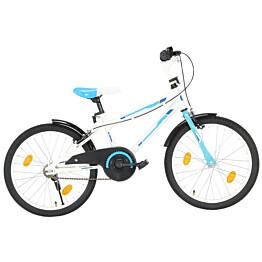 """Lasten pyörä 20"""" sininen/valkoinen"""