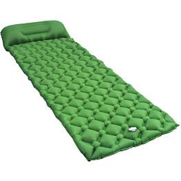 Makuualusta tyynyllä, 58x190cm, ilmatäytteinen, vihreä