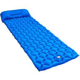 Makuualusta tyynyllä, 58x190cm, ilmatäytteinen, sininen