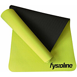 Joogamatto Fysioline 173 x 61 cm limenvihreä/musta