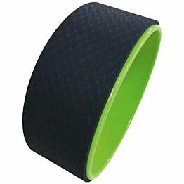 Joogapyörä Fysioline Yoga Wheel Ø 33 cm musta/vihreä