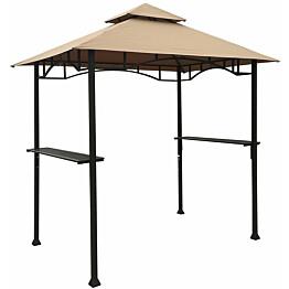 Paviljonki Home4you BBQ, 2,4x1,5m, tummanruskea/beige