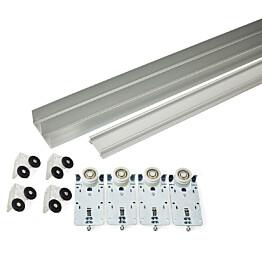 Liukuoven kisko Habo K-50 alumiini