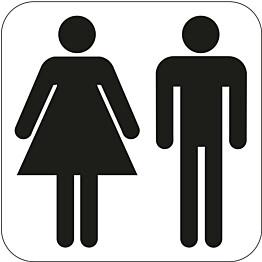 WC-kyltti miehet/naiset 80x80mm