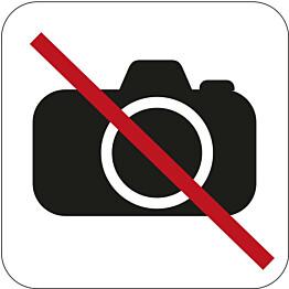 Valokuvaaminen kielletty -kyltti Habo 80x80mm