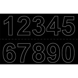 Numerosetti 0-9 Habo 50mm 2kpl musta