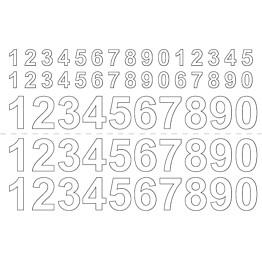 Numerosetti Habo itsekiinnittyvä 13/26mm valkoinen
