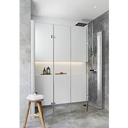 Suihkusyvennys Hafa Igloo Pro, taittuvat ovet, kirkas lasi, eri kokoja