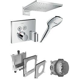 Sadesuihkusetti Hansgrohe ShowerSelect/Raindance E 300 Air, Porter-liitin, termostaattihanalla, piiloasennettava