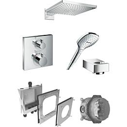 Sadesuihkusetti Hansgrohe ShowerSelect/Raindance E 300 Air, termostaattihanalla, piiloasennettava