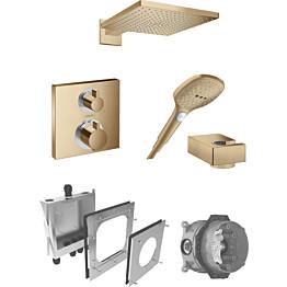 Sadesuihkusetti Hansgrohe ShowerSelect/Raindance E 300 Air, termostaattihanalla, piiloasennettava, harjattu pronssi