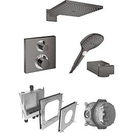 Sadesuihkusetti Hansgrohe ShowerSelect/Raindance E 300 Air, termostaattihanalla, piiloasennettava, harjattu musta kromi