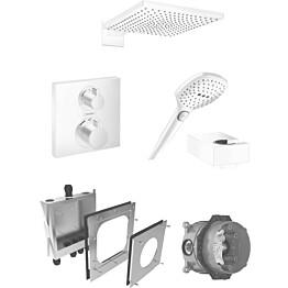 Sadesuihkusetti Hansgrohe ShowerSelect/Raindance E 300 Air, termostaattihanalla, piiloasennettava, mattavalkoinen
