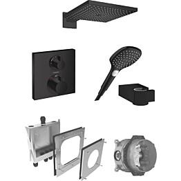 Sadesuihkusetti Hansgrohe ShowerSelect/Raindance E 300 Air, termostaattihanalla, piiloasennettava, mattamusta