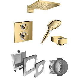 Sadesuihkusetti Hansgrohe ShowerSelect/Raindance E 300 Air, termostaattihanalla, piiloasennettava, kulta