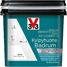 Remontointimaali kylpyhuone V33 puolikiiltävä 750ml eri värivaihtoehtoja