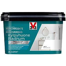 Remontointimaali kylpyhuone V33 puolikiiltävä 2l eri värivaihtoehtoja