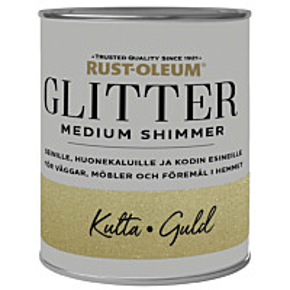 Glittermaali Rust-Oleum Medium Shimmer 750ml eri värivaihtoethoja
