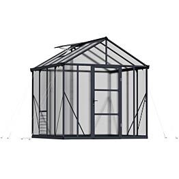 Kasvihuone Palram-Canopia Glory 5,97 m² 8x8 harmaa