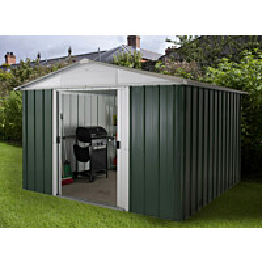 Pihavarasto Yardmaster Emerald Deluxe 1013GEYZ 11 m² metalli vihreä