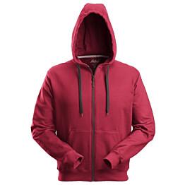 Vetoketjuhuppari Snickers Workwear 2801 punainen