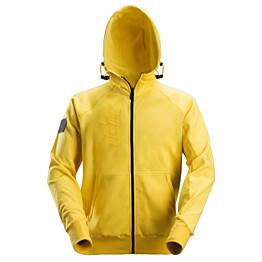 Vetoketjuhuppari Snickers Workwear 2880 logolla keltainen