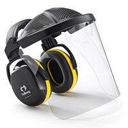 Kuulosuojaimet ja visiiri Hellberg Secure Safe 2 sangalla polykarbonaatti