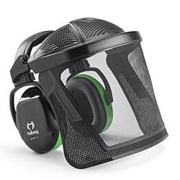 Kuulosuojaimet ja visiiri Hellberg Secure Safe 1 sangalla nylonverkko