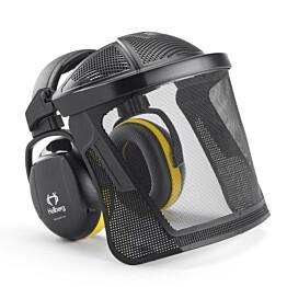 Kuulosuojaimet ja visiiri Hellberg Secure Safe 2 sangalla nylonverkko