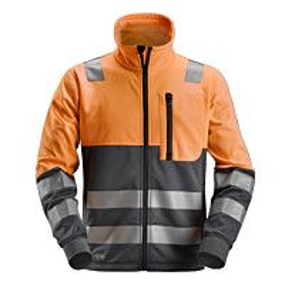 Fleecetakki Snickers Workwear AllroundWork 8035 LK 2 oranssi