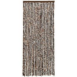 Hyönteisverho ruskea ja valkoinen 56x185 cm chenille_1
