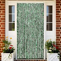 Hyönteisverho vihreä ja valkoinen 90x220 cm chenille_1