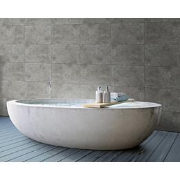 Sisustuslevy Innovera Décor Tongue&Groove Urban Cement Dark Grey 5x400x620 mm PVC tummanharmaa