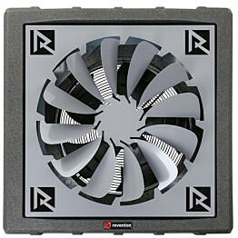 Lämpöpuhallin Reventon HC35-3S 30,3 kW musta + levityssäle 360