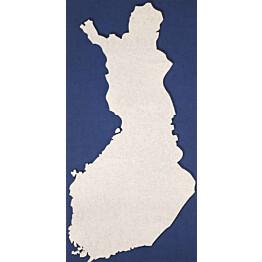 Akustiikkalevy Konto Suomen kartta 594x1194x40mm sininen/valkoinen