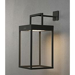 LED-lyhtyvalaisin Konstsmide Portofino aurinkopaneelilla musta