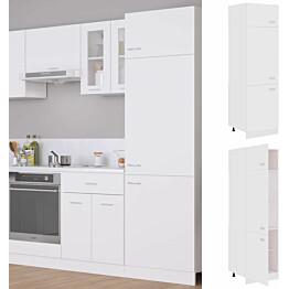 Kaappi jääkaapille valkoinen 60x57x207cm lastulevy_1