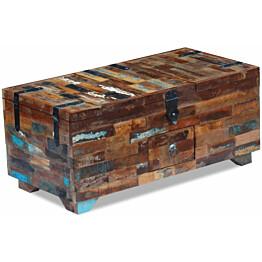 Kahvipöytä arkku täysi uusiokäytetty puu 80x40x35 cm_1