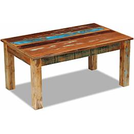 Kahvipöytä täysi uusiokäytetty puu 100x60x45 cm_1