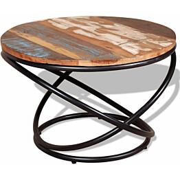 Kahvipöytä täysi uusiokäytetty puu 60x60x40 cm_1