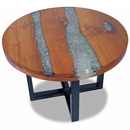 Kahvipöytä tiikki hartsi 60 cm_1