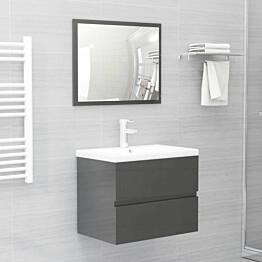 Kaksiosainen kylpyhuoneen kalustesarja harmaa lastulevy_1