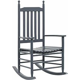 Keinutuoli muotoillulla istuimella harmaa haapa_1