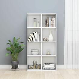 Kirjahylly/senkki korkeakiilto valkoinen 66x30x130cm_1