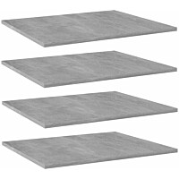 Kirjahyllytasot 4 kpl betoninharmaa 60x50x1,5 cm lastulevy_1