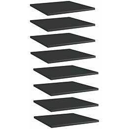 Kirjahyllytasot 8 kpl korkeakiilto musta 40x40x1,5 cm_1