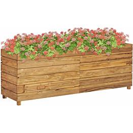 Kukkalaatikko 150x40x55 cm kierrätetty tiikki ja teräs_1