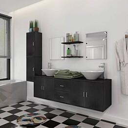 Kylpyhuoneen huonekalusarja pesuallas ja hana 11 osaa_1