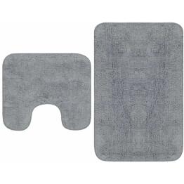 Kylpyhuoneen mattosarja 2 osaa kangas harmaa_1