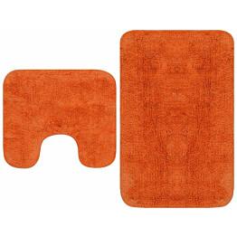 Kylpyhuoneen mattosarja 2 osaa kangas oranssi_1